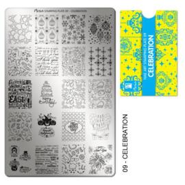 Moyra Stamping Plate 09 Celebration