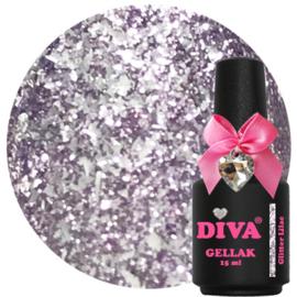 Diva Gellak Glitter Lilac 15ml