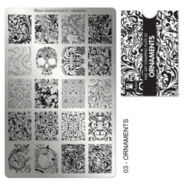 Mora Stamping plate 03 ornaments