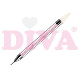 Dubbele Tool voor Crystal stenen Pink