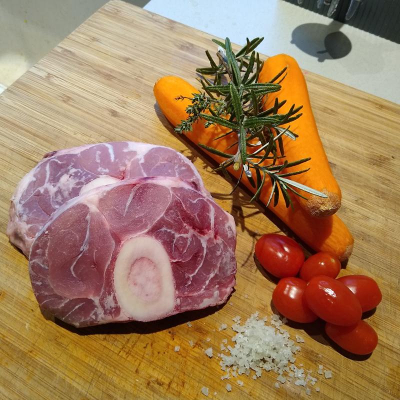 Rosé kalfsvlees | Schenkel (Osso Buco)
