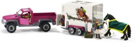Pick-up met paardentrailer Schleich 42346