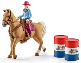 Barrel racing set met cowgirl Schleich 41417