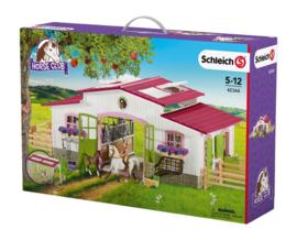 Manege met ruiter en paarden Schleich 42344