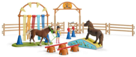 Pony behendigsheids training extra - Schleich 42481