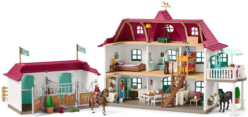 Grote paardenstal, woning en paardenbox Schleich 42416