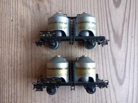 Marklin Bruinkool wagons 2 stuks