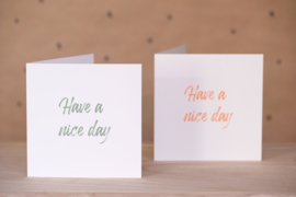 Have a nice day (groen)