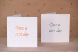 Have a nice day (oranje)