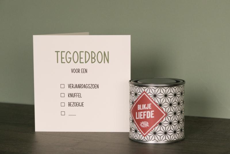 Tegoedbon: verjaardagszoen, bezoekje, knuffel, ...