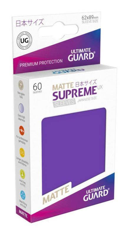 Supreme UX Matte Sleeves Japanese Size (purple)