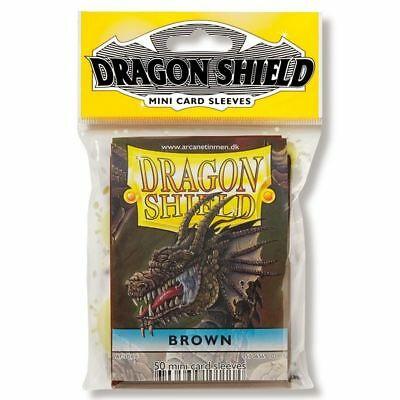 Dragon Shield mini 50 card sleeves (brown)