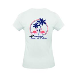 Dames shirt 'WannaBeachclub Onder de Palmen' - maat XS