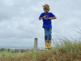 Kids t-shirt 'Zeebaars' - maat 110/116