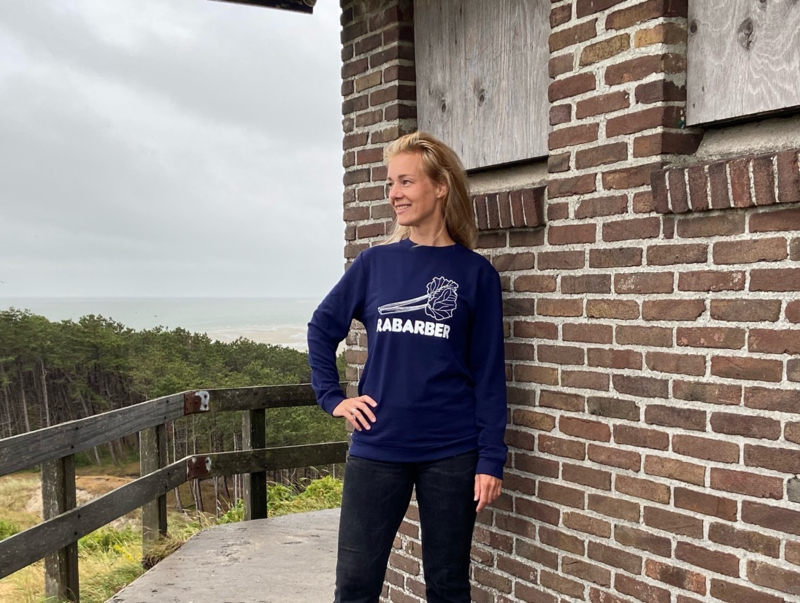 Unisex sweater 'Rabarber' - maat L