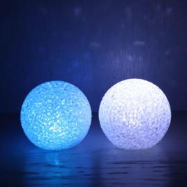 Led lichtbal 8 cm multi