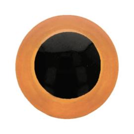 Dieren oog 2 kleurig Oranje