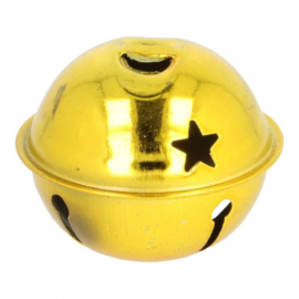 Bel met ster goud 40 mm