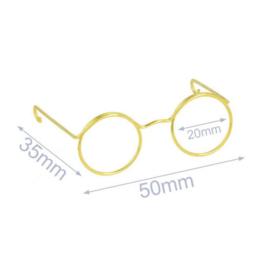 Metalen bril Goud