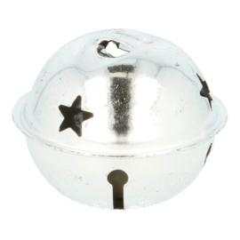 Bel met ster zilver 40 mm