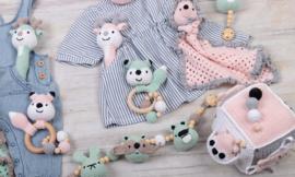 Little Woodland Adventures babyspeeltjes Mint