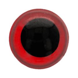 Dieren oog 2 kleurig Rood