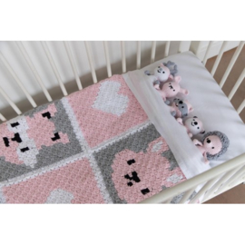 Little Woodland Adventures babydeken roze