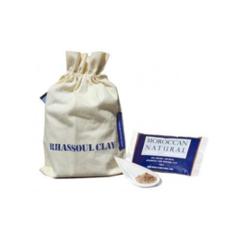 Moroccan Natural Rhassoul Clay 4x50g sachets - Calico Bag