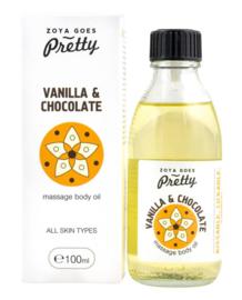 Massage body oil Vanilla & Chocolate - 100 ml*new