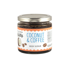 Coconut & Coffee Body Scrub 200g glass jar