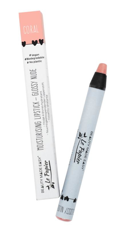 Beauty Made Easy Le Papier Glossy Lipstick - coral