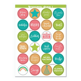 Stickervel 'Jarig' - YP