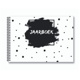Jaarboek invulboek - Zwart