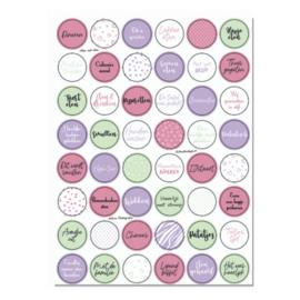 Stickervel 'Eten enzo' YP