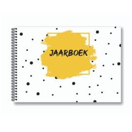 Jaarboek invulboek - Okergeel
