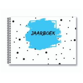 Jaarboek invulboek - Blauw