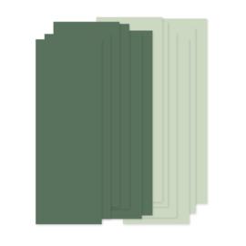 Papierstroken effen groen (12 stuks)