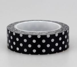 Decoratieve Dots Zwart/Witte Washi Tape