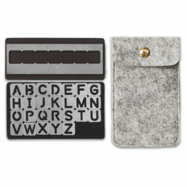 Magnetic stencils Alphabet - We R Memory Keepers