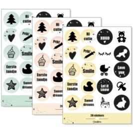 Stickervel 'baby's eerste jaar' - diverse kleuren