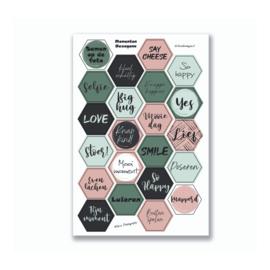 Stickervel 'Hexagon Momenten' YP