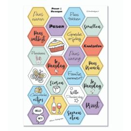 Stickervel 'Hexagon Pasen I' YP