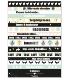 Stickervel 'baby's eerste jaar' (lange stickers)