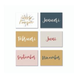 Quote Cards - Jaarboek || (13 stuks)