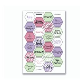 Stickervel 'Hexagon Pastelkleuren' YP