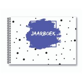 Jaarboek invulboek - Paars