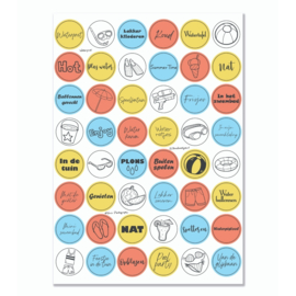 Stickervel 'Waterpret' YP