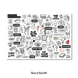 Stickervel contour 'Eten&drinken'