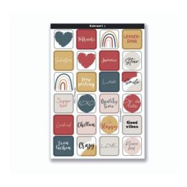 Stickervel 'Februari |' A5 - YP