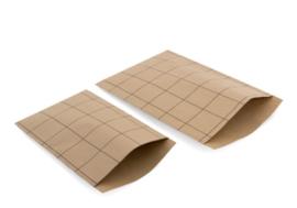 Cadeauzakjes - 23x31,5cm - Vlakke Zakken Grid Kraft (5 stuks)